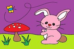 Bunny and toadstool