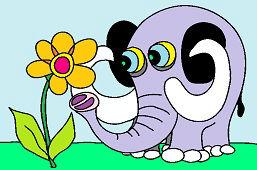 Elephant and flower