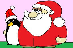 Santa and Penguin