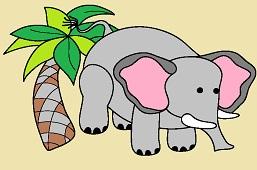 Elephant and palm