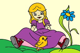 Alice and chick