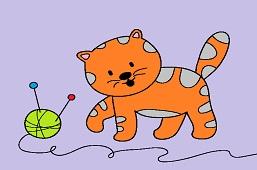 Kitten and skein