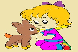 Girl and Fawn
