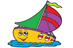 Sailing boat with flag