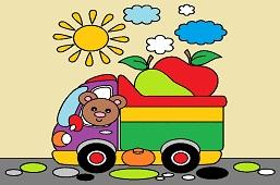 Teddy Bear in truck