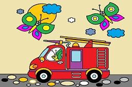 Butterflies and Fire Truck