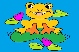 Frog on Sunny Lily Pad