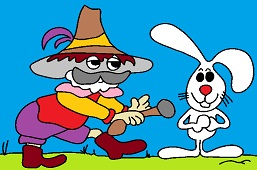 Forrest robber and rabbit