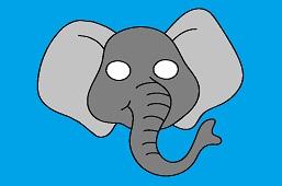 Carnival mask – Elephant