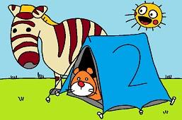 Animals camping