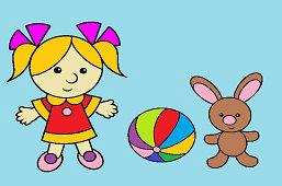 Little girl and bunny