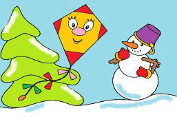Kite and snowman