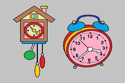 Alarm and cuckoo clocks