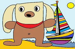 Dog and sailboat