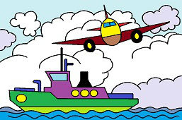 Aircraft and ship