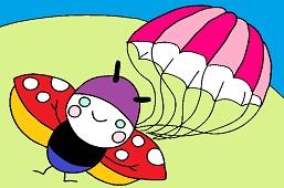 Ladybug skydiver