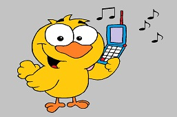 Chick with phone
