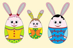 Three Easter Bunnies