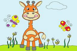 Giraffe in the Meadow