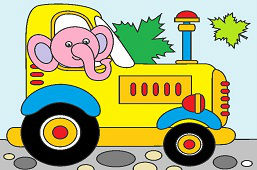 Elephant the Tractor driver