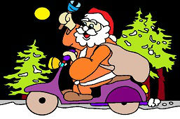 Santa on motorcycle