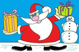 Santa has gifts