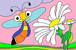 Wasp and daisy