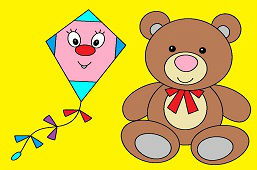 Teddy bear and kite