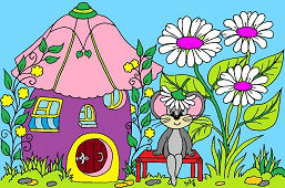 Mouse and Flower House