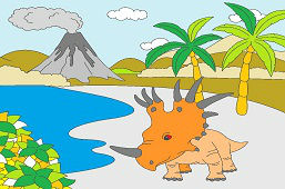 Styracosaurus in nature