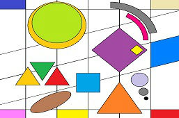 Geometric flat shapes