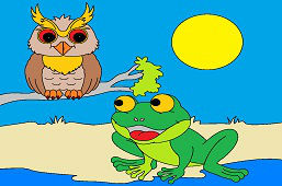 Frog and wise owl