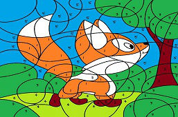 Little Fox in Forest